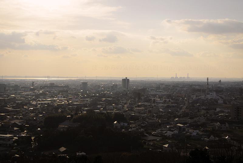 冬の八ッ面山kらの眺め