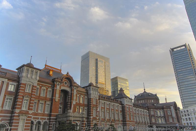 夕景の東京駅2