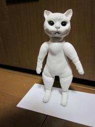 猫人形・バランス①