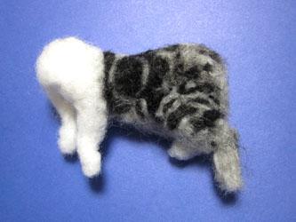 オーダー姉妹猫さん・お姉さん体の植毛お腹~足