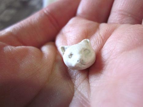 イージースリップ製猫頭ビーズ使用後