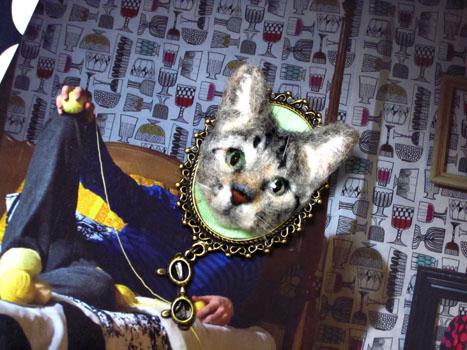 猫ブローチEくん22
