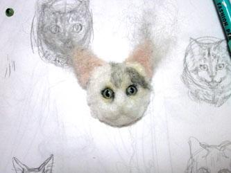 猫ブローチEくん5