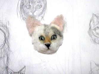 猫ブローチEくん6