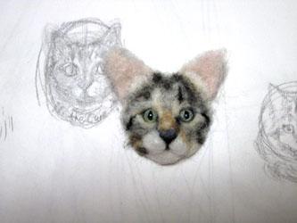 猫ブローチEくん8
