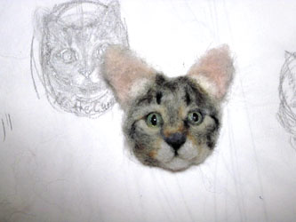 猫ブローチEくん9