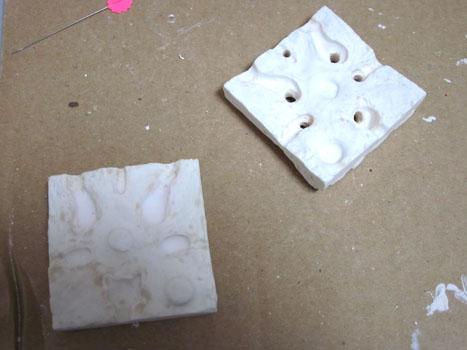 初めての石膏型