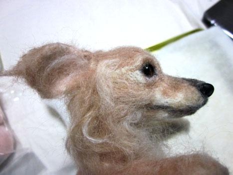 リングピロー犬・完成顔左横
