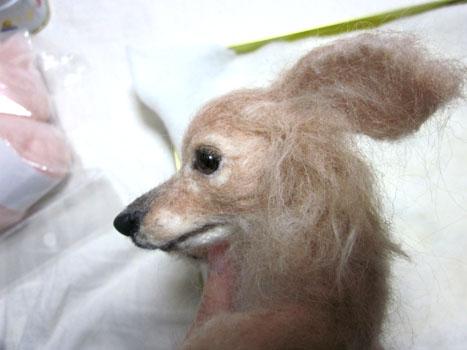 リングピロー犬・完成顔右横