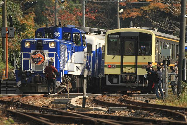 JR木次線トロッコ列車「奥出雲おろち号」
