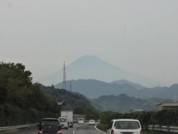 車内から富士山撮影