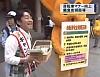 自転車マナー向上 上野駅前で緊急街頭指導
