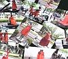 銅像19体に赤い服 大阪