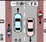自転車に一方通行規制