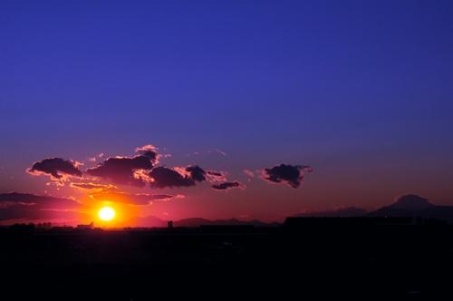 羽田からの夕日