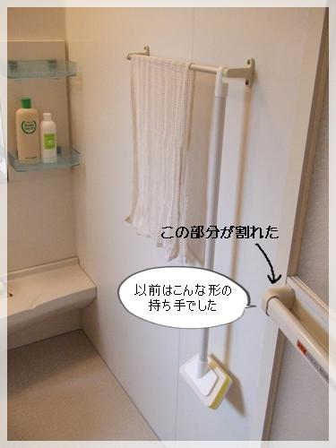 浴室ドアの持ち手