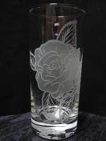 アートグラス 薔薇