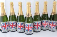 英国国旗彫刻酒瓶