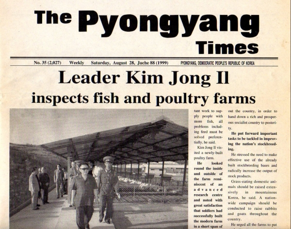 The Pyongyang Times, Saturday, August 28, Juche88(1999)