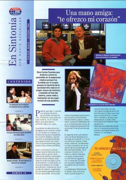 En Sintonía Radio Nederland MARZO - OCTUBRE 1999