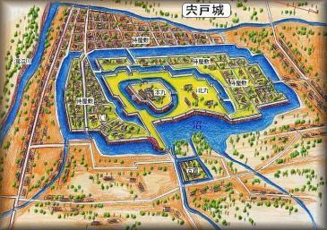 余湖氏の筆 『宍戸城』