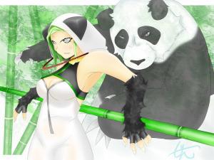 パンダさんとパンダと竹林500k以下