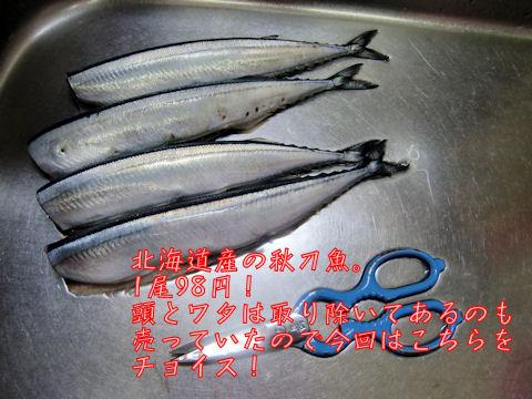 秋刀魚、4尾!