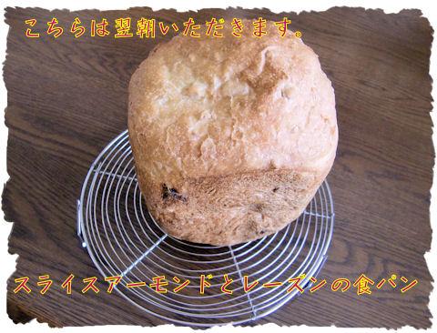 食パン。スライスアーモンド消費のためにせっせと使います。