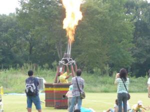 気球飛ばせないから、炎だけ!