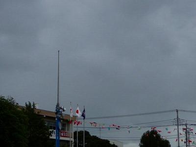 今にも雨ふりそう