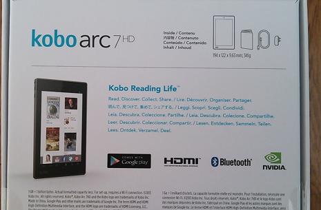 裏面 kobo arc(アーク)7HD タブレット レビュー・評価