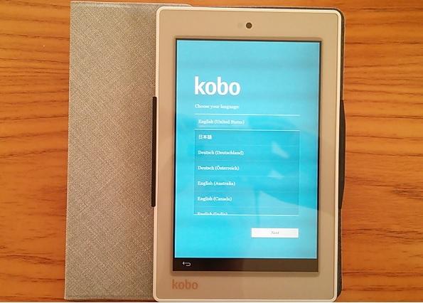 画面 kobo arc(アーク)7HD タブレット レビュー・評価