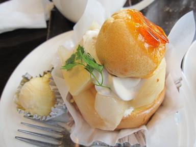 洋梨のケーキ(≧▽≦)♪