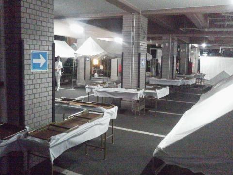 病院祭 テント建物内