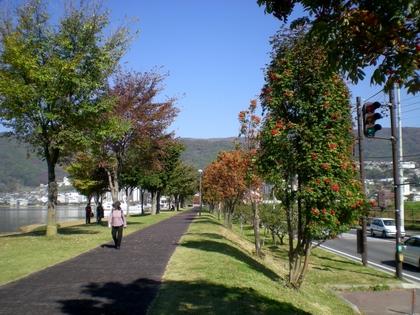 諏訪湖(上諏訪)  (2)