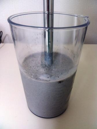 黒ゴマ豆乳バナナジュース3 できあがり