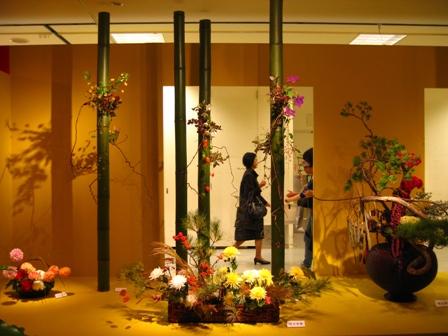 2010小原流花展 複数の作品