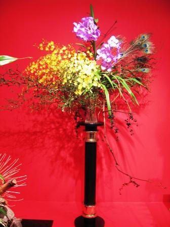 2010小原流花展 孔雀の羽