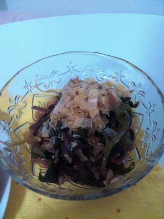 野菜づくしの夜ご飯 水前寺菜のおひたし