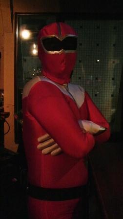 ハロウィン ぽっちゃり赤レンジャー