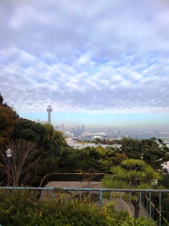 朝ラン_港の見える丘公園からの景色(みなとみらい)