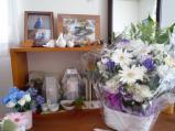 「お花ありがとうです」