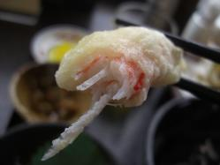 ズワイガニの天ぷら