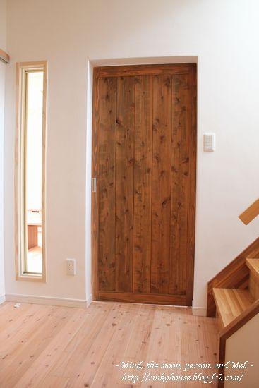 和室からみたリビングドア