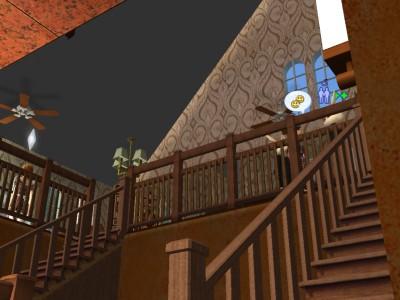 階段をあがると