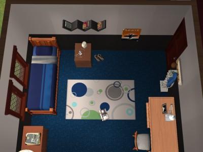 主人公の部屋