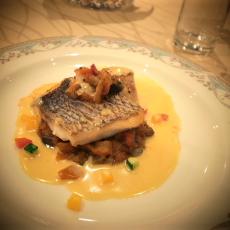 魚料理 鯛と帆立貝のポワレ