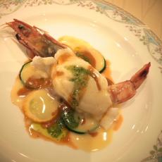 魚料理 海老と雲丹ムースの白身魚包み