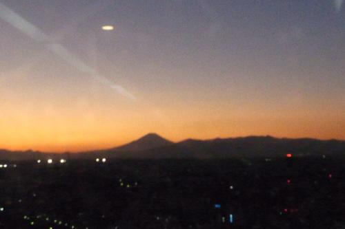 富士山が見えました。