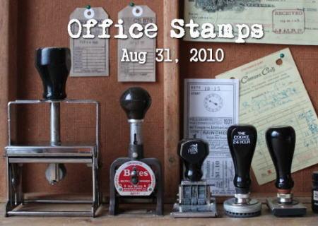 アメリカ ヴィンテージのオフィス雑貨 スタンプ7点アップ 2010/08/31 1